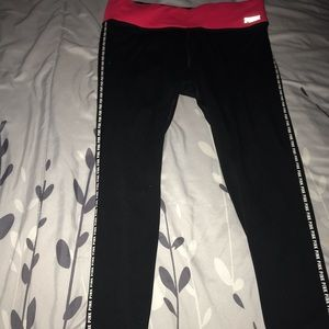 pink yoga leggings
